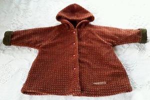 Vtg Girls Magi Legende d'Automne Fleece Quilted Lined Hooded Jacket Coat 3X 3T