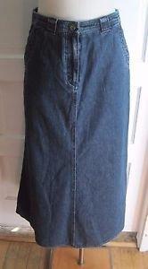 LRL Lauren Ralph Lauren Jeans Co A Line Long Maxi Denim Blue Jean Skirt Womens 4