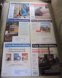 Fine Homebuilding Back Issues Magazines Lot of 6 Entire Year 2008 DIY Remodeling