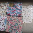 5 Vintage 1950s New Baby Shower Wrapping Paper Squares Ben Mont Umbrellas Crafts