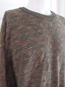 Mens Tundra Canada DNA Strand Multi Color Summer Weight Cotton Knit Sweater 3X