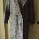 Womens Bert Newman Petite Wool Herringbone Tweed Double Breasted Dress Coat 12P