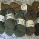 Lot Shaker Society Virgin Wool 2 Ply 4 ounces Yarn 9 Skeins Knit Crochet Crafts