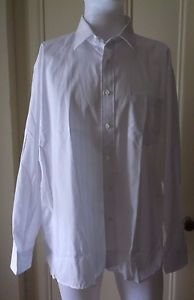 Mens Vintage Christian Dior Plus de Coton Dress Shirt sz 17.5 34 - 35 WPL125 USA