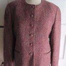 Vintage Lombardi Classic Sportswear Mohair Woven Blazer Jacket Womens 12 USA