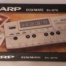 NOS Vintage Electronic Calculator SHARP Elsi Mate EL-670 Compact Keyboard Music