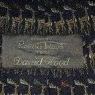 """Robert Talbott/David Wood 100% Silk Deer necktie 4"""" w 57"""" L Handmade England USA"""