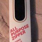 Vtg Coats & Clark 9 inch/23 cm 2 Black F72/9/2 All Purpose Zipper USA Polyester
