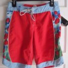 NWT Aaron Chang A.C. Dolphina 3 Tulips Flowers Swim Surf Beach Board Shorts Sz 3