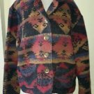 NTCO Nomadic Traders Wool Indian blanket Aztec Design Jacket Blazer Womens