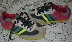 Adidas Mi Customized Ian Rainbow USA Flag Sneakers Shoes Mens sz 4 2012 Stripes