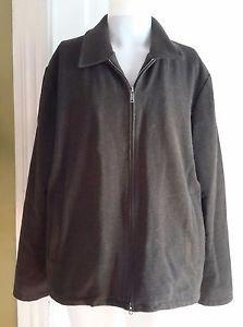 Banana Republic Wool Cashmere Full Zip Up Jacket Short Coat Charcoal Mens L