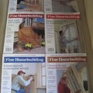 Fine Homebuilding Back Issues Magazines Lot of 6 Entire Year 2004 DIY Remodeling