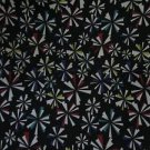 Neoprene Starburst Pattern with Black Backing Fabric Yardage 51 Inches x 4 yards