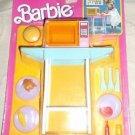 Vintage NOS Mattel Barbie Kitchen Set Microwave Oven Cart Dishes Food No. 7347