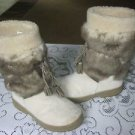 LL Bean Faux Fur Shearling Lined Winter White Tall Lace Up MukLuk Boots Womens 7