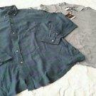 NWT Lot 2 Mens 3XLT Oak Hill Dry Action Striped Chaps Ralph Lauren Plaid Shirts