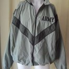 US Army PT Physical Fitness Uniform Windbreaker Jacket Mens LT Military Vented