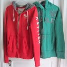 Lot 2 American Eagle Abercrombie & Fitch Pullover Full Zip Hoodie Sweatshirt M