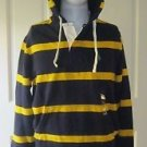$125 NWT Polo Ralph Lauren French Navy Striped Rugby Hoodie Sweatshirt Mens sz S