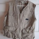LL Bean Kids Boys First Cast Fishing Hunting Photography Safari Vest M 10 12 Tan
