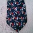 "J.Garcia 100% Silk necktie 3.75"" w 60"" L abstract Geometric blue red Jerry 62830"