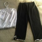 Dance wear clothing girl's pants top lot Wolff Fording A Wish Come True size LC
