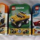 Lot of Lego Creator Mini Dumper Dump Truck Off-Roader Jet 5865 6742 6741 3 in 1