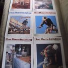 Fine Homebuilding Back Issues Magazines Lot of 6 Entire Year 1997 DIY Remodeling