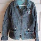 Cakewalk Kids Girls Lined Patchwork Denim Blue Jean Jacket 12 / 152 Netherlands