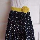 Girls Rosenau Yellow Ribbon Polka Dot Midi Summer Party Holiday Dress Tulle 4T