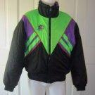 Vintage Neon Choko 400 Design Ski Snowmobile Motorcycle Parka Jacket Mens M