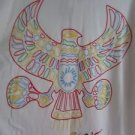 NWT Coogi Rainbow Eagle Thunderbird Emblem White Polo Shirt Mens 5XL Loud Tribal
