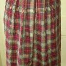 Vintage J.G. Hook Wool Tartan Scotch Plaid Long Midi Pleated Skirt Womens M USA