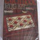 Vintage 70s WonderArt Latch Hook Rug Kit Rose Trellis 20x27 Dupont Orlon Acrylic
