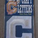 """Letter C Iron Stick On Paintable Embroidered Craft Letters Joy S.A. USA 2"""" Tall"""
