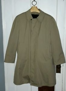 Vintage All Weather Rainwear Trench Coat zip out Pile faux fur lining Mens 2XL