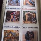 Fine Homebuilding Back Issues Magazines Lot of 6 Entire Year 1996 DIY Remodeling