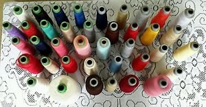 Vintage Lot of 39 Perfect Thread Company Polyester Serger Cones Mixed Colors USA