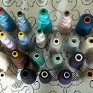 Vintage Lot of 32 Star SureLock Clarks Polyester Serger Cones Mixed Colors