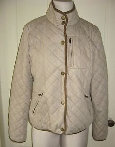 LRL Ralph Lauren Jeans Co. Quilted Plaid Flannel Lined Jacket womens L Contrast