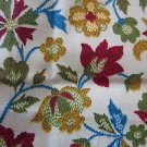 Vintage Jacobean Cotton Embroidered Tapestry Look Flowers Quilting Fabric Crafts