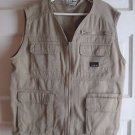 LL Bean Kids Boys First Cast Fishing Hunting Photography Safari Vest L 14 16 Tan