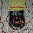NOS 1000 Islands St. Lawrence River Sportsthings Original Patch Travel Souvenir