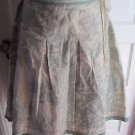 Cortefeil Woman Toile Print Linen Full Flare Pleated Belted Skirt Womens 48 Plus