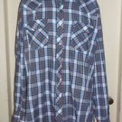 Vintage Roebucks Western Rockabilly Pearl Snaps Up Casual Shirt Cotton Mens XLT