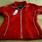 Womens Kewl Mascot Athletic Running Track Yoga Exercise jacket coat medium Red