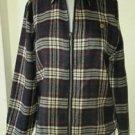 Woolrich Tartan Scotch Plaid Wool Blend Full Zip Up Jacket Womens S Style #2262