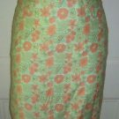 Lilly Pulitzer Cotton Blend Lined Pencil Straight Short Skirt Floral Womens sz 2