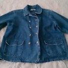 L.L. Bean Denim Jean Womens 100% cotton button up jacket Coat blazer 6P Petite